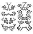 design ornamental elements and monograms set vector image