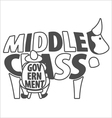 Middle class and government vector image