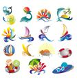 summer beach travel clip art vector image vector image
