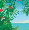 tropic sea vector image