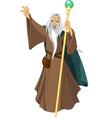 Sorcerer wizard vector image vector image