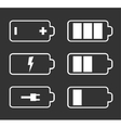 Battery flat icons vector image