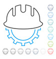 development hardhat stroke icon vector image