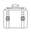 isolated travel suitcase vector image