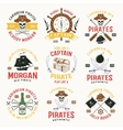 Pirates Colored Emblems vector image