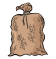 Old sack vector image vector image