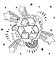 doodle pop recycle vector image