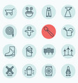 set of 16 gardening icons includes sprinkler vector image