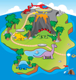Dinosaurs Island Game vector image