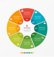 circle chart infographic template with 8 options vector image