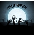 EPS 10 Halloween background with zombies and the vector image