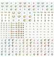 Huge mega collection of company logo icons vector image