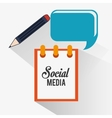 notepad social media icon vector image