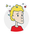 person dizzy and headache vector image