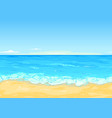 sea coast tileable landscape vector image