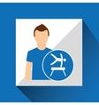 sport man concept artistic gymnastic icon design vector image