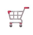 supermarket shopping cart sale flat icon vector image