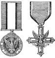 vintage military medals vector image