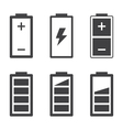 Set of simple battery icons and symbols vector image