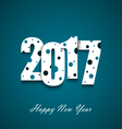New Year wishes with circles on an blue background vector image vector image
