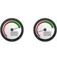 Downloads Speedometer With Two Emblems For Slow An vector image vector image