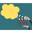 Abstract Cinema Clapper with Speech Bubble Flat vector image
