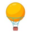 Flying round balloon icon cartoon style vector image