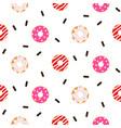donut pink glazed seamless pattern vector image