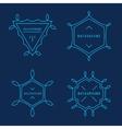 Set of Elegant lineart logo design elements vector image vector image