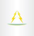 thunder symbol abstract design vector image