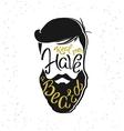 Real men have a beard template design vector image
