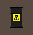 barrel icon with a chemical substance vector image