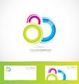 Abstract colored circles logo vector image