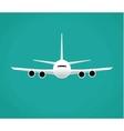 Civil aviation travel passenger air plane vector image