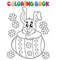 coloring book easter rabbit theme 4 vector image