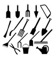gardening and agriculture icons set vector image