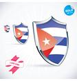 I Love Cuba Flag vector image