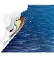 ship and white smoke vector image