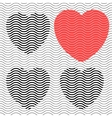 Stripes hearts seamless vector image