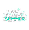 Summer - line travel vector image