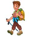 Trekking boy vector image