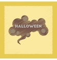 flat shading style icon halloween sign vector image