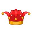 Jester hat icon cartoon style vector image