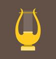 harp or lyre flat design vector image