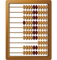 Wooden abacus vector image vector image