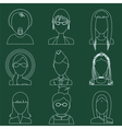 Set of flat style female characters vector image