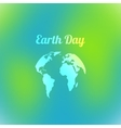 Earth Day in blue and green colors vector image