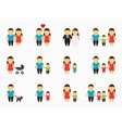 Flat family icons set vector image