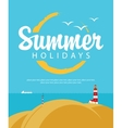 summer holidays with sea vector image
