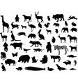 animal silhouettes set vector image